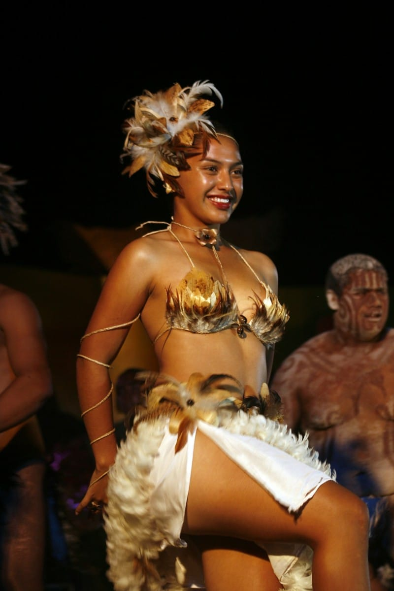 Woman in traditional Rapa Nui attire on Easter Island. Photo courtesy Creative Commons