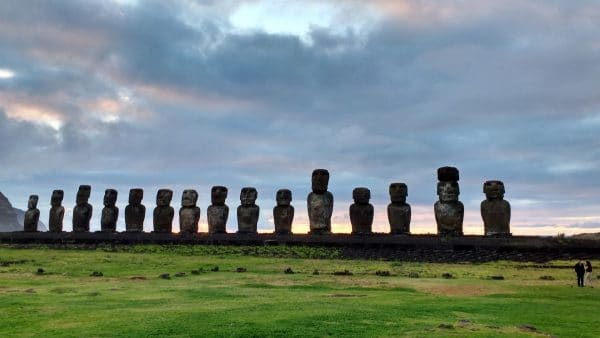 Moai at Tongariki on Easter Island. Photo courtesy Creative Commons