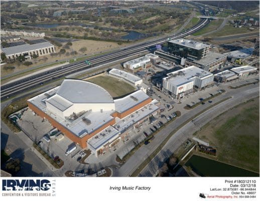 Toyota Music Factory in Irving's Las Colinas. Photo courtesy Irving Convention & Visitors Bureau