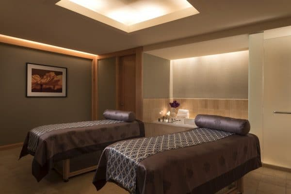 Couples treatment room at The Ritz-Carlton, Dallas spa. Photo by Donald Riddle Images courtesy The Ritz-Carlton