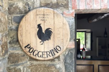 Chianti wine - Entrance to Poggerino, Radda - Photo by Jacqui Gibson