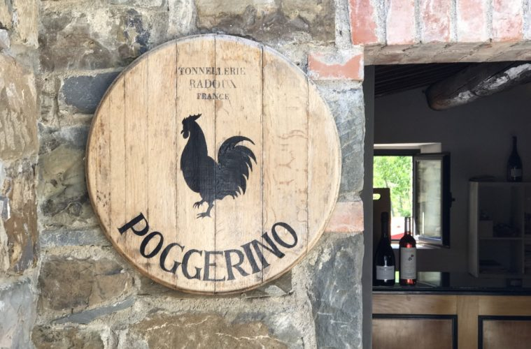 Chianti wine - Entrance to Poggerino, Radda - Photo by Jacqui Gibson