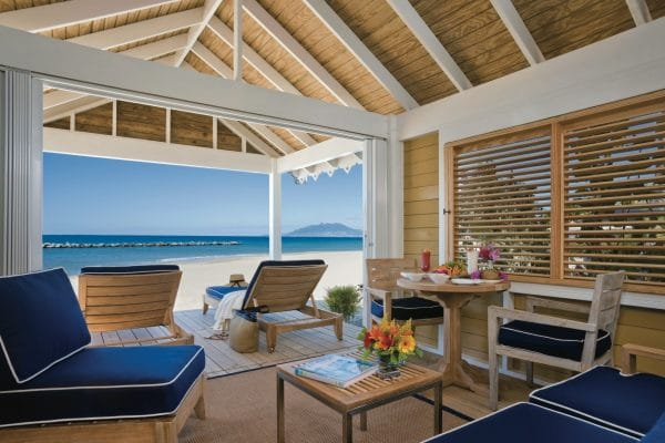 Luxury Beach Cabana available for the day Photo by Peter Peirce courtesy Four Seasons Nevis