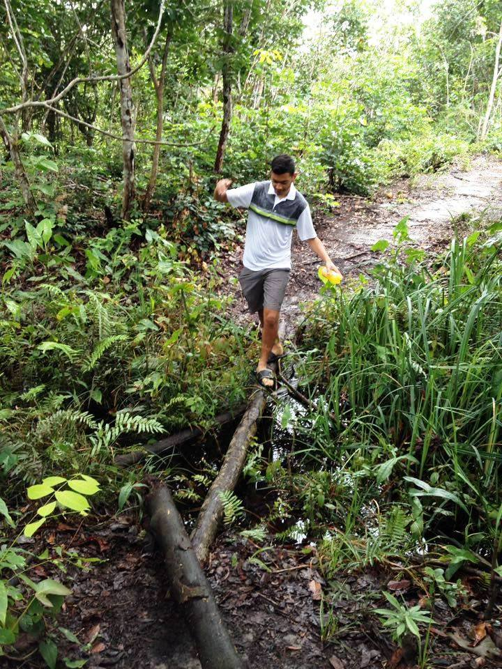 Hiking near the Ayonto Hororo Eco-Lodge in Guyana