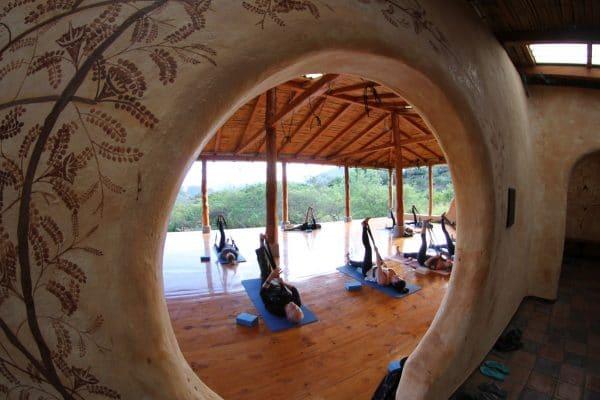 Yoga Classes at Hostería Izhcayluma during a wellness retreat in Ecuador.