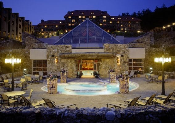 The Omni Grove Park Inn near the Blue Ridge Mountains