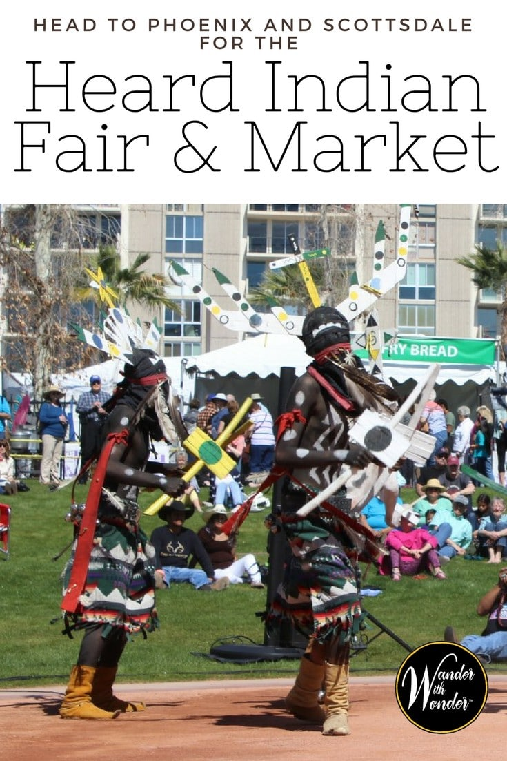 The Heard Indian Fair & Market is nationally recognized, featuring more than 600 Native artists it is a place for artists and collectors to gather in Phoenix. #wanderphoenix #travel #art #culture