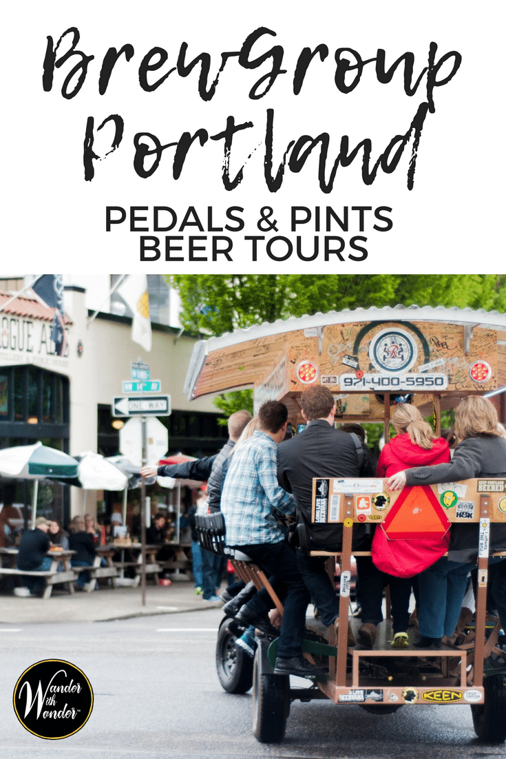 Known as one of the top craft brewery scenes and the most bike-friendly in the country, BrewGroup Portland is a perfect way to combine the two for a uniquely Portland adventure! #WanderPNW #portland #beer #WanderwithWonder
