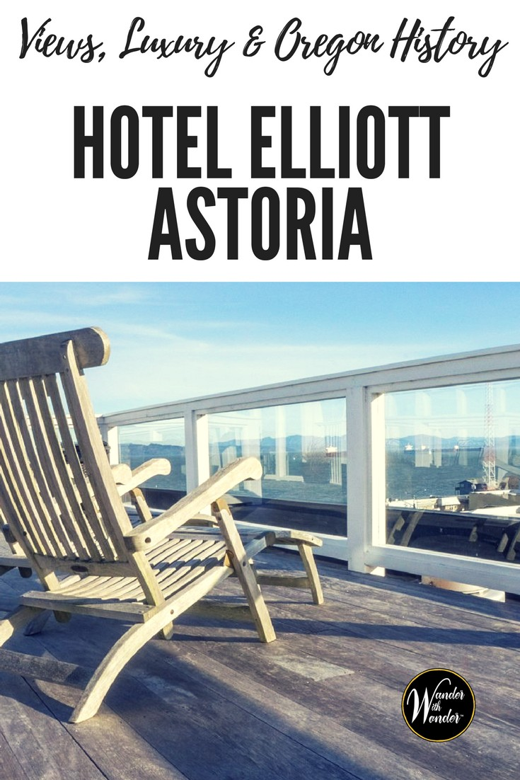 Hotel Elliott Astoria is tucked into the heart of downtown Astoria and with views like these you might find yourself lingering on the rooftop. Discover views, history and luxury in Oregon. #sponsored #travel #wanderoregon