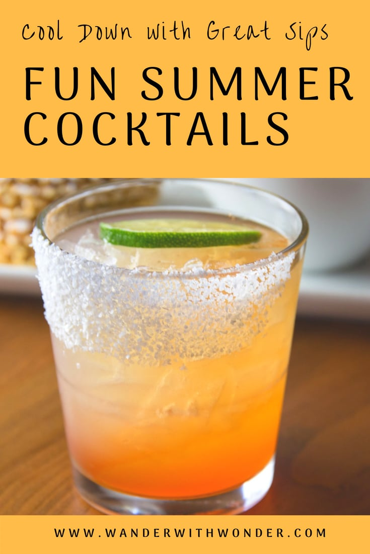 Nothing says summer better than a refreshing cocktail. From around the world or across the street, here are a few cocktails that you can make for yourself—or plan a visit to these great locations and order one up to celebrate summer. #cocktail #summercocktails #summerdrinks #recipes #drinks #wanderwithwonder