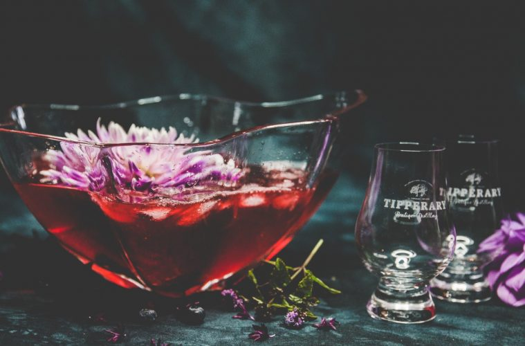 Blend Tipperary Whiskey Bumblebee Dahlia Cordial to create a great punch for serving up summer cocktails. Photo courtesy Tipperary Distilleries