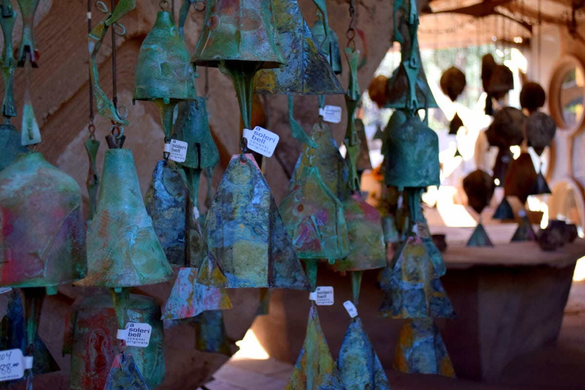 Take home a wind bell when you visit Paolo Soleri's Cosanti in Scottsdale. Photo by Susan Lanier-Graham