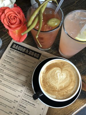 Walla Walla Wines - Coffee and breakfast cocktails at Bacon and Eggs by Susan Lanier-Graham