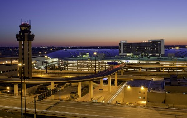 Exterior of the DFW Grand Hyatt and Dallas-Fort Worth International Airport. Photo courtesy Hyatt Hotels Corporation