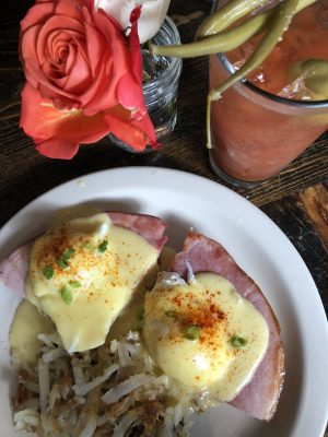Walla Walla Wines - Eggs Benedict and Bloody Mary at Bacon and Eggs by Susan Lanier-Graham
