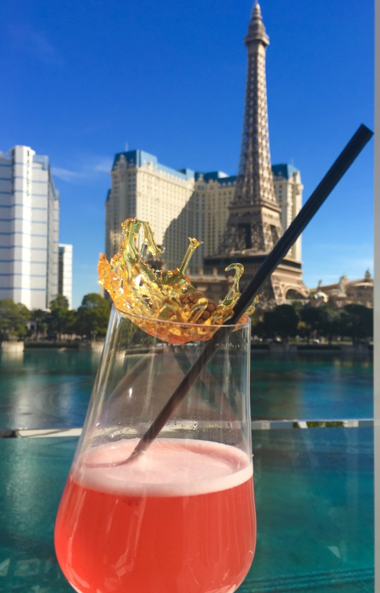 Drinks at Lago by Julian Serrano with Strip Views. Photo by Susan Lanier-Graham