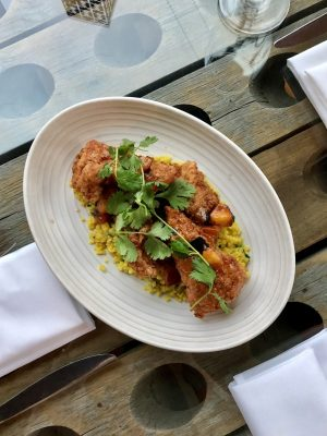 Walla Walla Wines - Moroccan fried chicken at Saffron by Susan Lanier-Graham