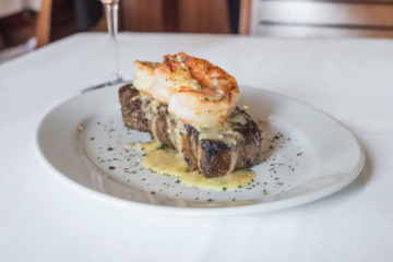 Ocean Prime's Surf & Turf. Photo courtesy Ocean Prime