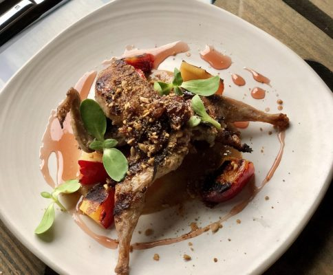 Quail at Saffron Mediterranean Kitchen was a flavorful first bite. Photo by Susan Lanier-Graham