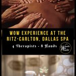"I may never be satisfied with a ""normal"" massage again. The Ritz-Carlton Dallas spa offers the Texas Eight-Hand Massage, the ultimate in an over-the-top spa experience. #massage #spa #luxuryspa #RitzCarlton #Dallas #DallasSpa"