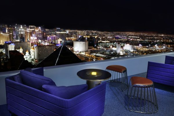 Outdoor Patio at Skyfall Lounge. Photo courtesy MGM Resorts