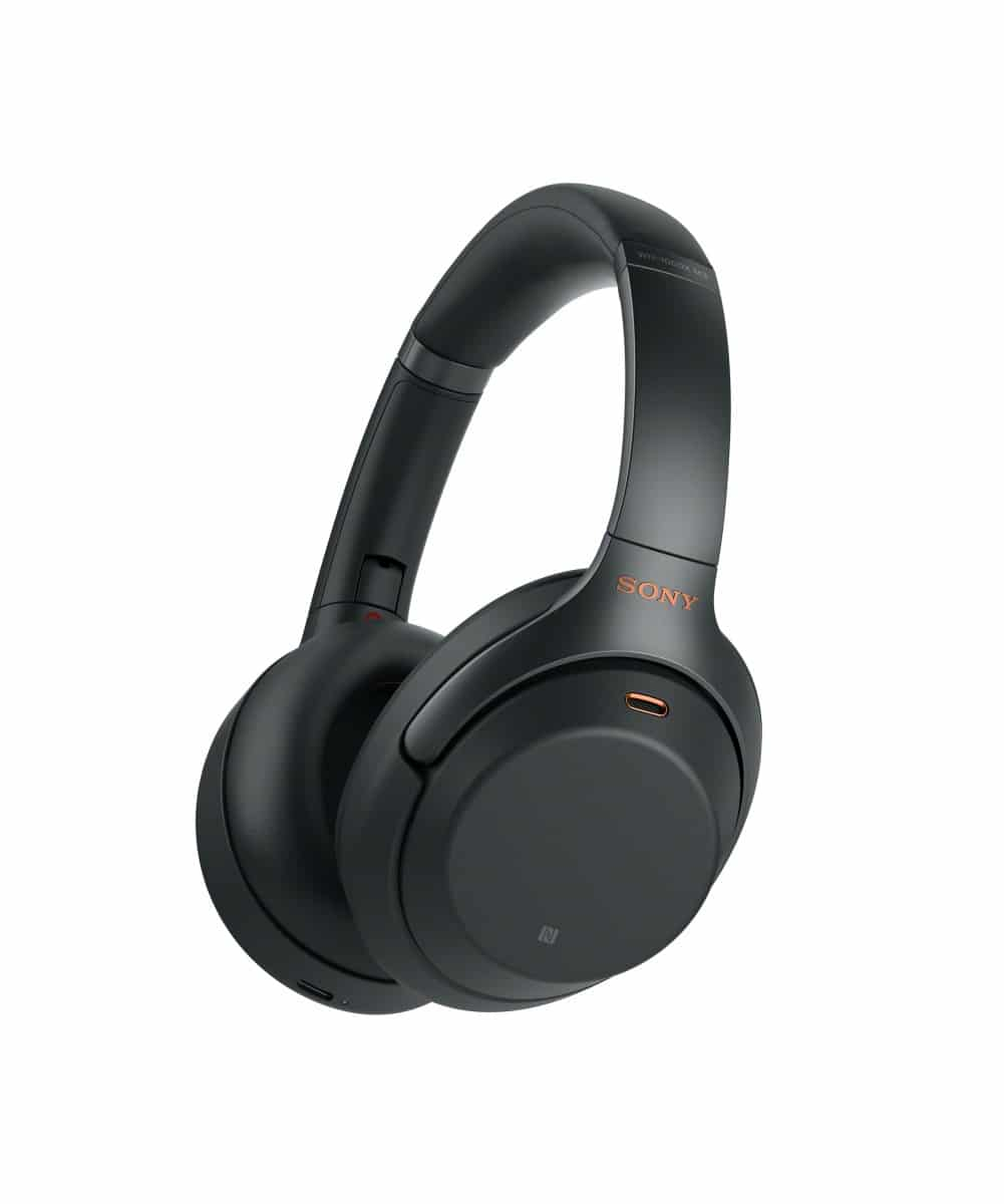 Sony 1000XM2 Noise-Canceling Headphones in black. Photo courtesy Sony