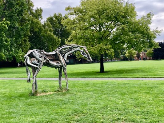 Walla Walla Wines - Whitman College sculpture by Susan Lanier-Graham