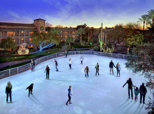 Take to the Ice in the Desert  during Christmas at The Princess. Photo courtesy Fairmont Scottsdale Princess