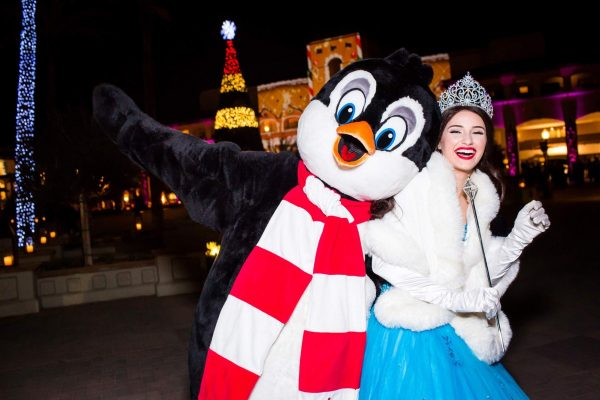 Party with Peppermint Penguin at Christmas at The Princess. Photo courtesy Fairmont Scottsdale Princess