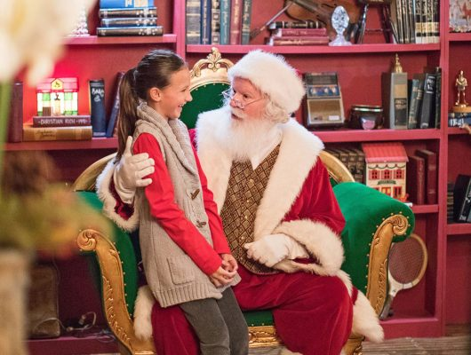 Chat with Santa during Christmas at The Princess. Photo courtesy Fairmont Scottsdale Princess