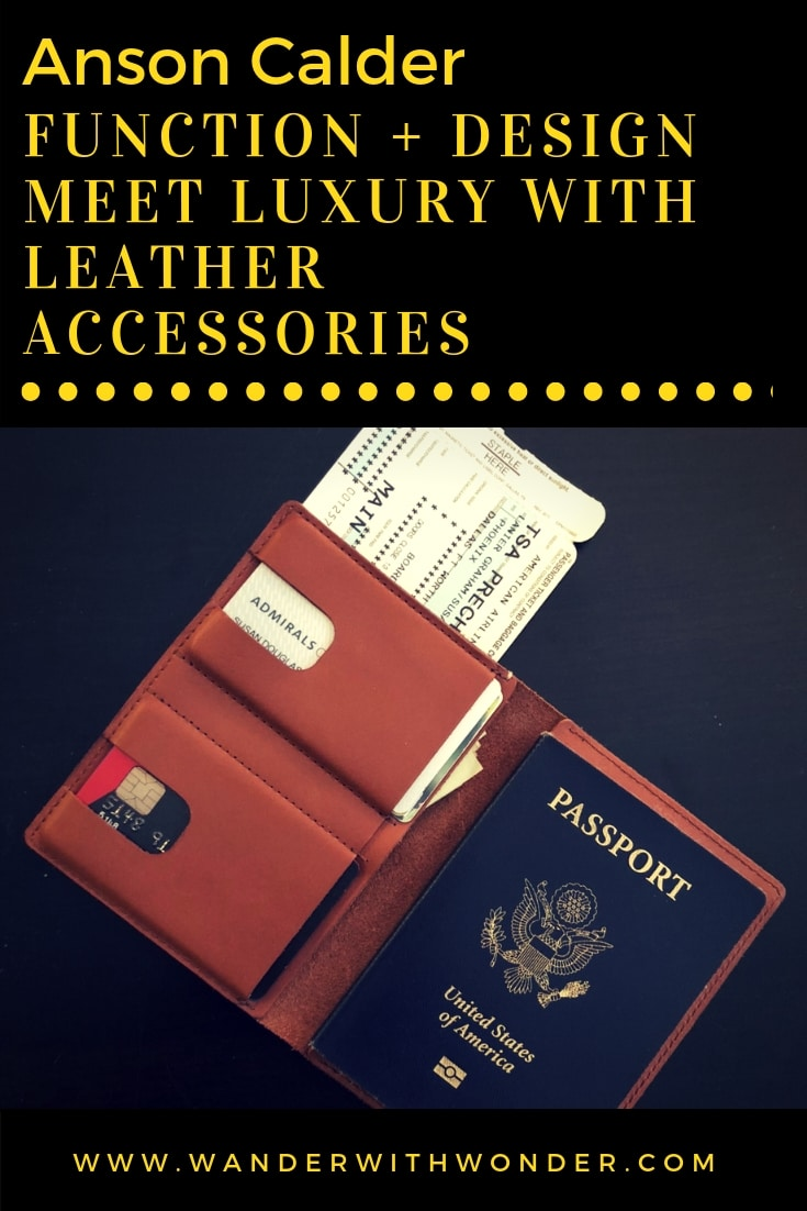 When I received my Anson Calder passport wallet, I knew I had discovered a great product. I found out I also discovered a quality company filled with passion. I love these great leather travel bags and accessories! #travel #travelbags #travelaccessories #productreview #passportwallet #ansoncalder #ad