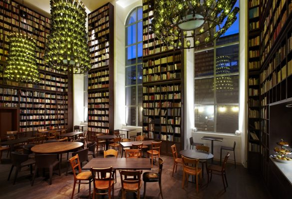B2 Boutique Hotels + Spa Wine Library. Photo courtesy B2 Boutique Hotels + Spa