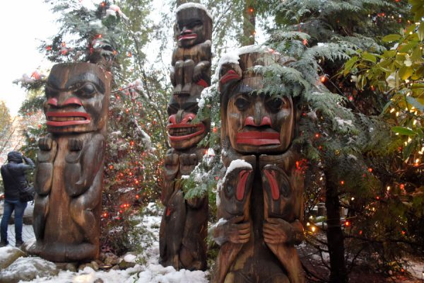 Totems at Capilano Suspension Bridge - Lower Lonsdale Christmas