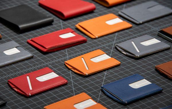 Original Anson Calder card wallets. Photo courtesy Anson Calder.