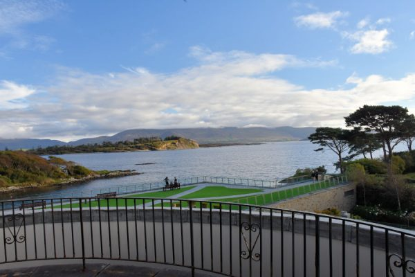 Balcony view at Parknasilla Resort & Spa in Ireland.