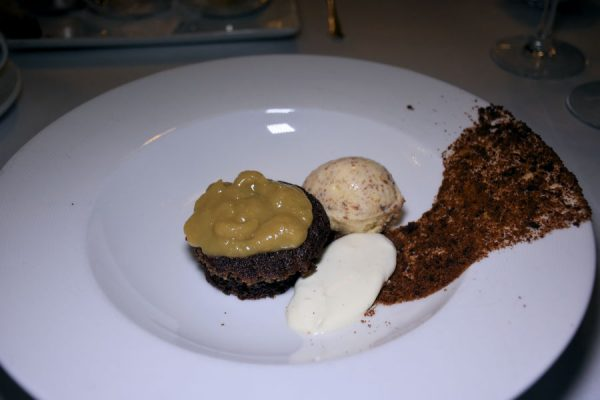 Sticky toffee pudding at The Pygmalion Restaurant at Parknasilla Resort & Spa.