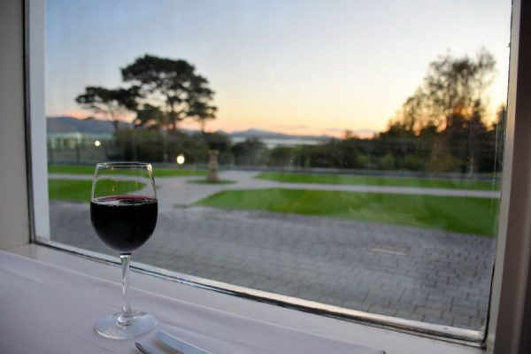 A sunset view from The Pygmalion Restaurant at Parknasilla Resort & Spa.