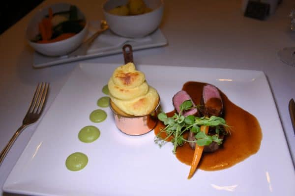 The cannon of Kerry lamb at The Pygmalion Restaurant at the Parknasilla Resort & Spa.