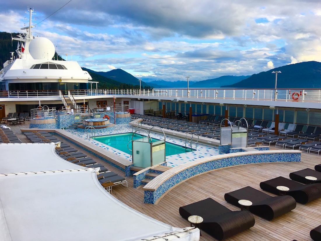 luxury cruise on Regent Seven Seas - Enjoy a pool, a couple of spas, gaming tables and lots of chaises during a Regent Seven Seas Cruise. Photo by Catherine Parker