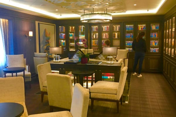 luxury cruise on Regent Seven Seas - After three weeks in dry dock in 2018, the Mariner features a newly redesigned and stocked library. Photo by Catherine Parker