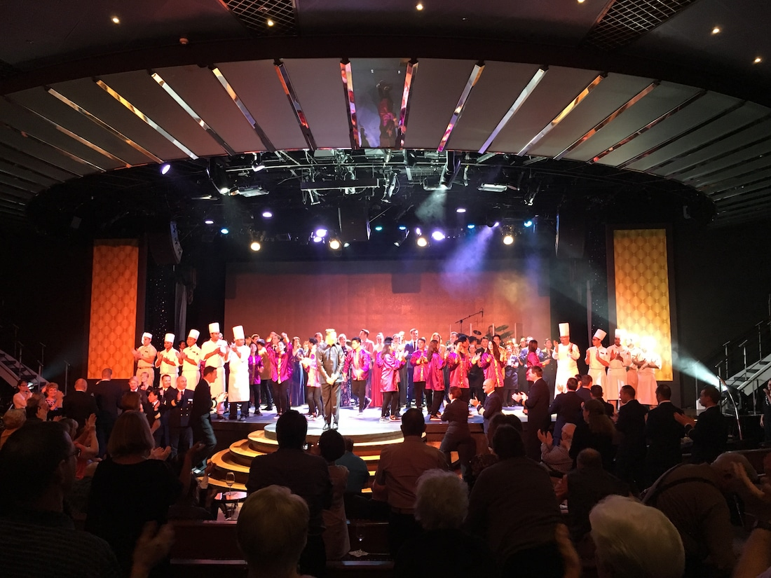 luxury cruise on Regent Seven Seas - With a full line up of nightly entertainment, enjoy a show during your cruise. Photo by Catherine Parker