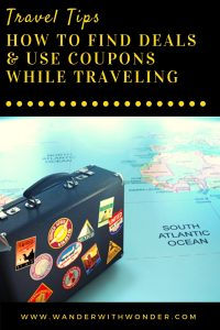 Finding great deals and using coupons are excellent ways to maintain your budget. You can also find great deals and coupons while traveling. #sponsored #travel #traveldeals #traveltips #budgettravel