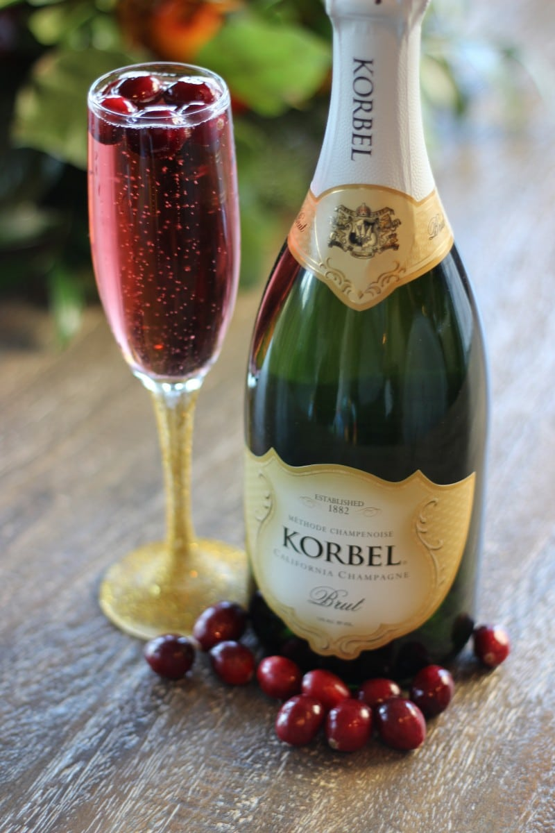 holiday cocktail recipes - Cranberry Cheer with Korbel sparkling wine. Photo courtesy Korbel