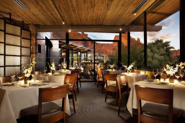 Dining room at elements. Photo courtesy Sanctuary Camelback Resort & Spa