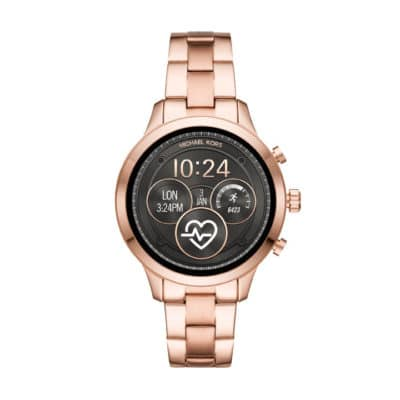 The Michael Kors Access Runway Smartwatch is also available in rose gold.