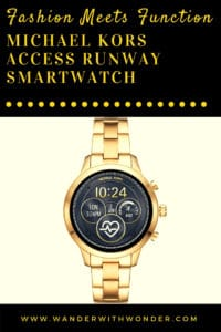 For those who really want fingertip access to their texts, emails, and appointments, the Michael Kors Access Runway Smartwatch is a fashion-forward solution. Best Buy offers the gold or rose gold with stainless band for $350.
