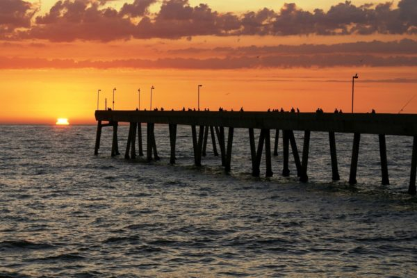 Pacifica Pier is popular for fishing and watching incredible sunsets. Photo by Scott Leslie courtesy Pacifica