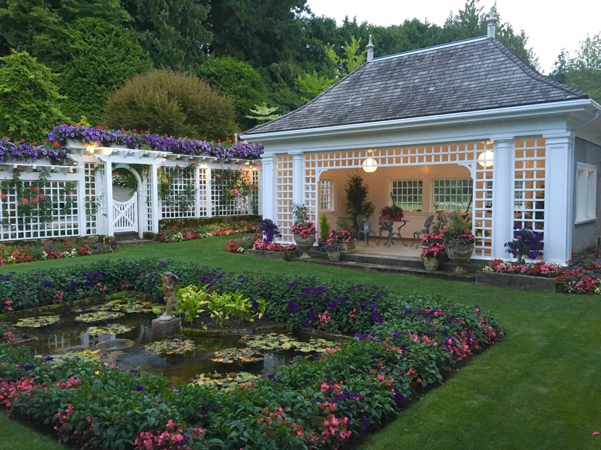 afternoon tea across canada - Take tea in a garden house overlooking one of the most beloved gardens of western Canada, Butchart Gardens, east of Vancouver. Photo by Catherine Parker