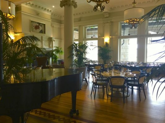 afternoon tea across Canada - The Empress Lobby offers elegant environment for taking tea with a baby grand piano. Photo by Catherine Parker