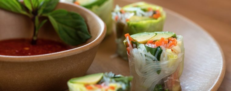 Kale and Clover Food Avocado Summer Roll. Photo courtesy Kale + Clover